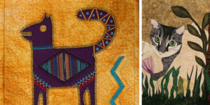 The two art quilts featured in this episode of Quilting Arts TV