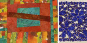 Two projects featured in the 2011 episode of Quilting Arts TV