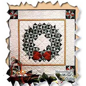 Pattern Christmas Wreath Wall Hanging Quilting Daily