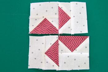 8 QM Bitty Blocks: Flying Geese Pinwheels