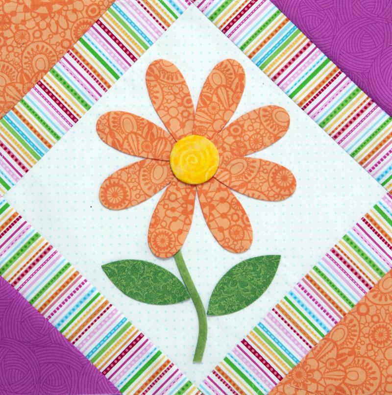 Bloomin' Daisy Quilt Block