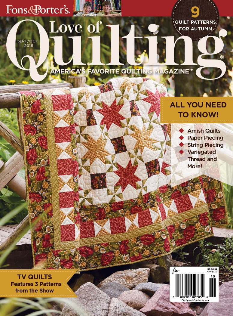 Love of Quilting September/October 2016