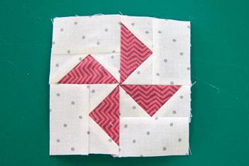 FG Pinwheel1 QM Bitty Blocks: Flying Geese Pinwheels