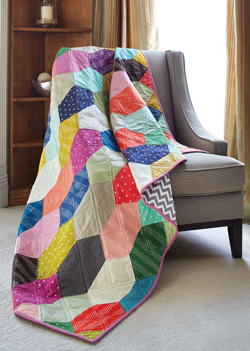 Facets Scrap Quilted Throw Pattern