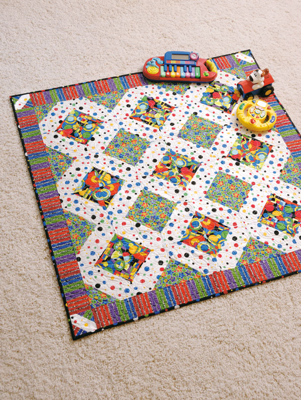 Free Crib Quilt Pattern: Baby Genius Synapse | Quilting Daily