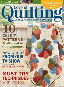 Love of Quilting September/October 2015