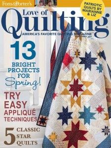 Love of Quilting March/April 2015