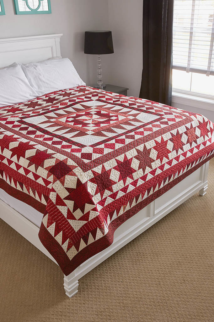 Red Between the Lines Quilt   A Red And White Quilt Pattern