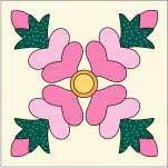 Rose of Sharon Quilt Block