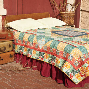 Santa Fe Sunrise Colorful Medallion Bed Quilt Pattern Quilting Daily