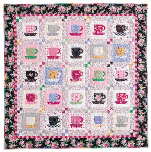 Tea Time at Nana's: Quick Fuse and Piece Teacup Quilt Pattern at McCallsQuilting.com