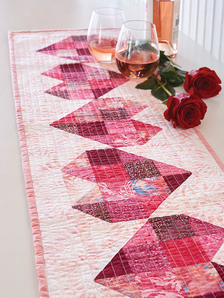 Here S My Heart Table Runner Quilt Pattern From Fons Porter Quilting Daily