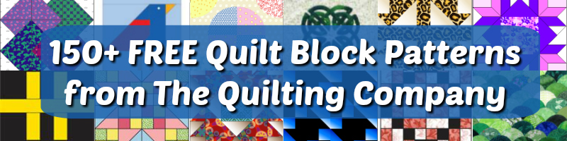 Free quilting block patterns from The Quilting Company!