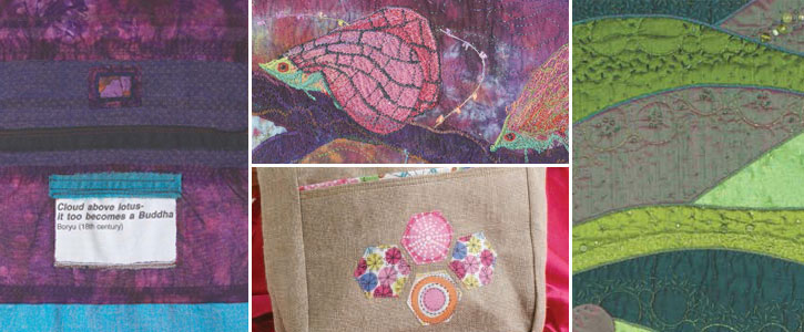 Get all four free articles to make applique quilt designs like these!