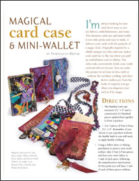 Free Quilt Projects 2: Magical Card Case and Mini-Wallet