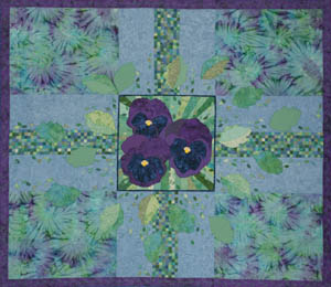 Pansy Thoughts Full Quilt