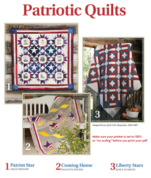Free eBook filled with patriotic quilt patterns