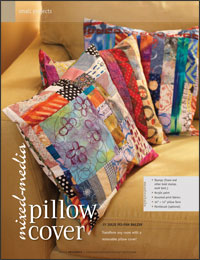 Free Quilt Projects 6: Mixed-Media Pillow Cover