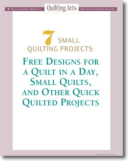 Discover seven small quilt patterns and quick quilts, all in one free collection!