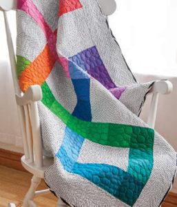 Free beginner quilt pattern: Spectrum pattern