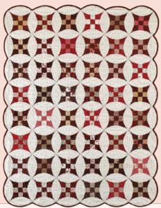 bed sized two color quilt pattern