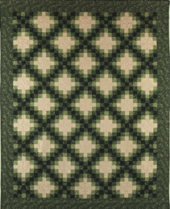 green and white two color quilt