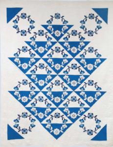 Blue two color quilt