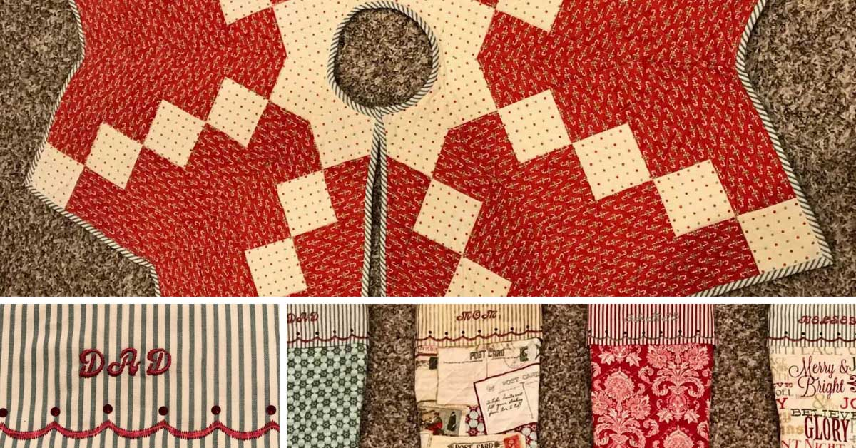 Design Wall Quilted Christmas Tree Skirt Quilting Daily