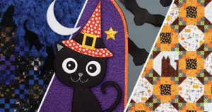 Make a halloween quilt or two to celebrate the season!