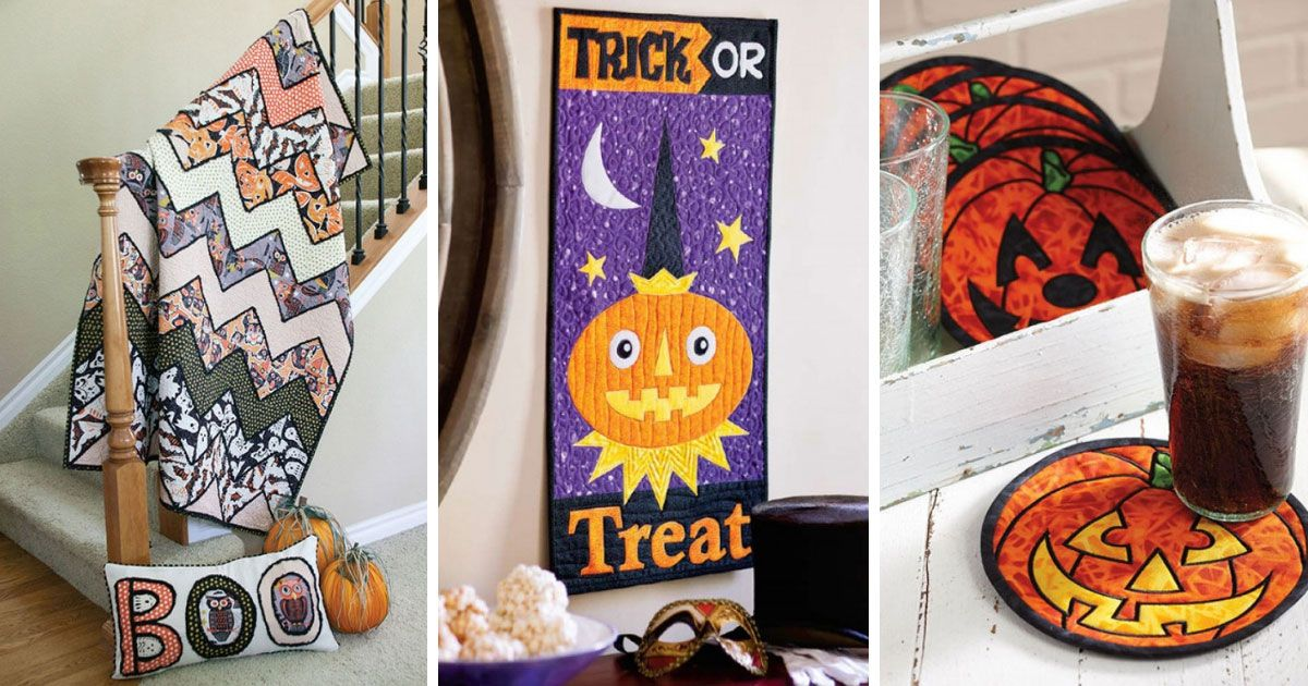 Quilted Halloween decorations to make this season