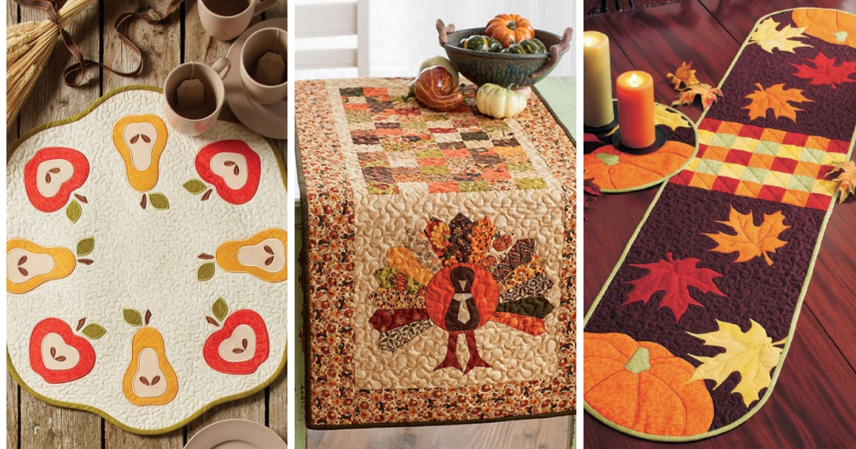 Quilted Table Runners Thanksgiving Edition Quilting Daily