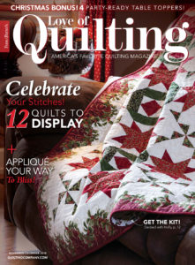 Love of Quilting November/December 2018 issue cover