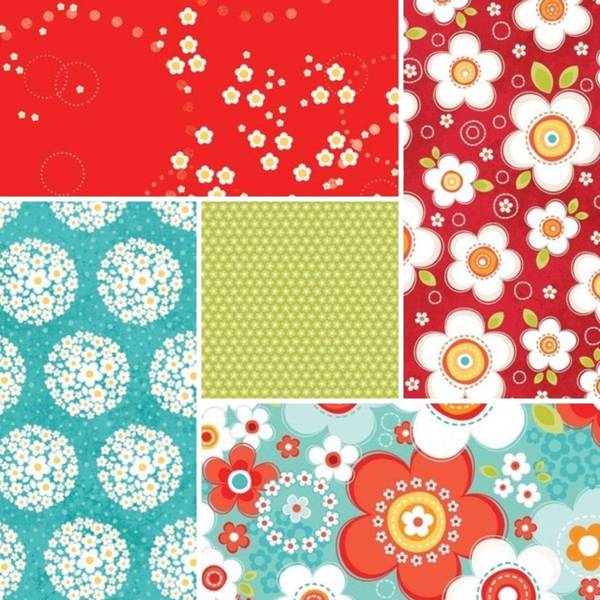 Some of Adornit's fabric selections for the Challenge Quilt