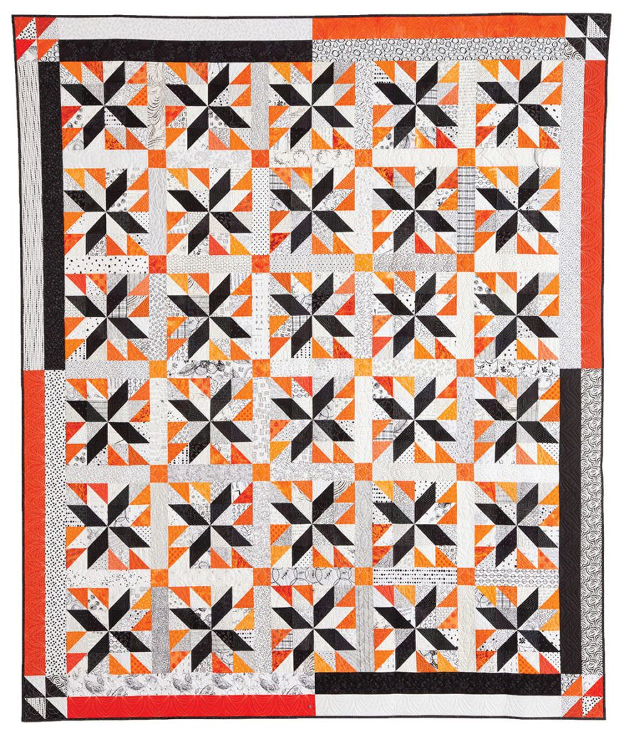 """""""Peanut Butter Kisses"""" by Nancy Mahoney • Appeared in McCall's Quilting September/October 2018"""