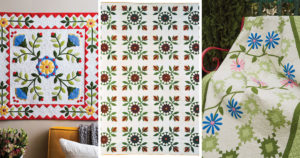 Three stunning applique quilts featured in the applique collection