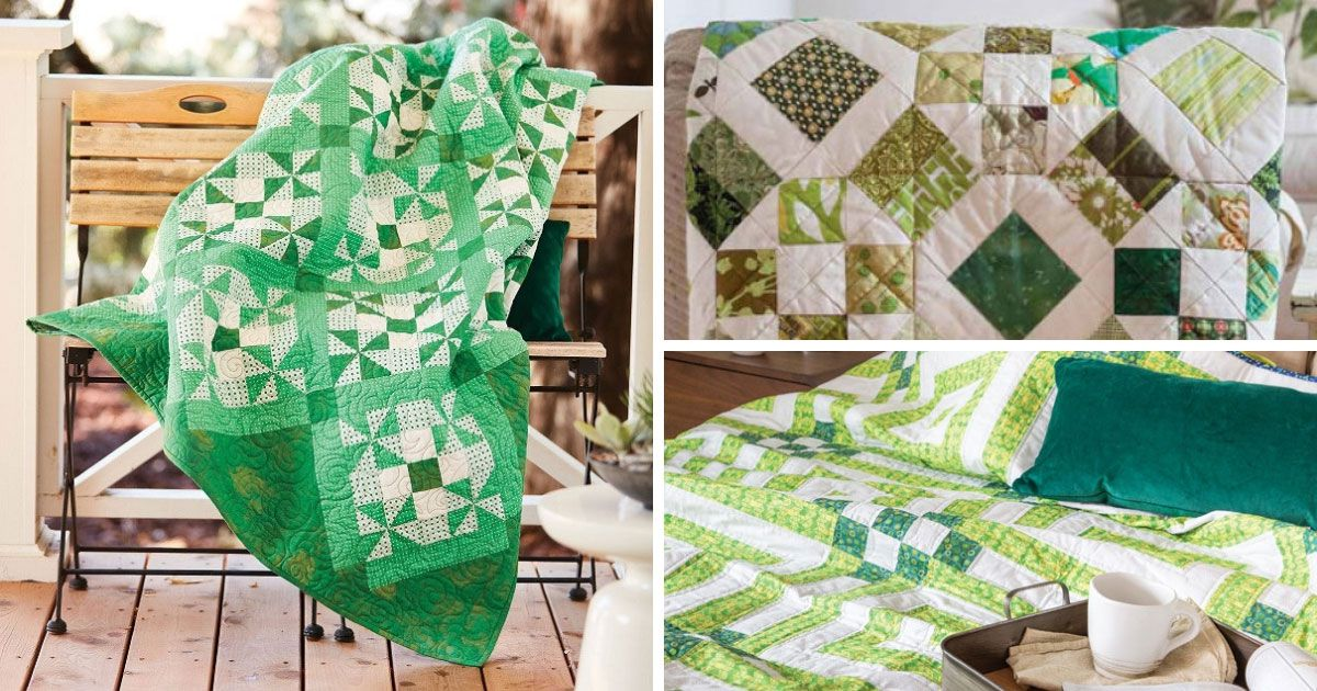 Three quilt patterns perfect for St Patrick's Day
