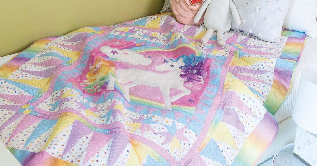 Unicorn Dreams by Krisanne Watkins from Easy Quilts Winter 2019.