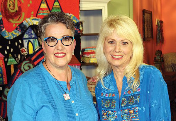 """Jean Impey with the host of """"Quilting Arts TV,"""" Susan Brubaker Knapp"""