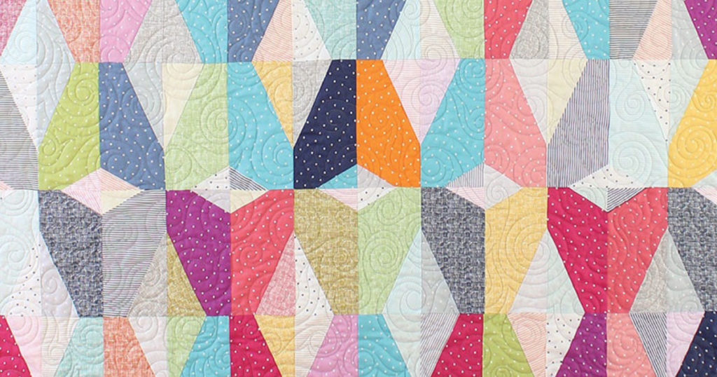 "Detail of of the ""Flight Delight"" quilt."