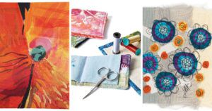 Three floral projects from Quilting Arts