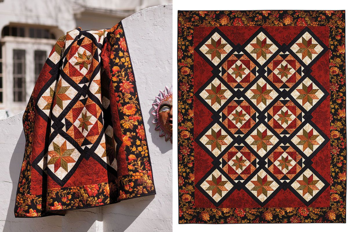 """""""Link"""" is one of many fall quilt patterns that will get you in the spirit."""