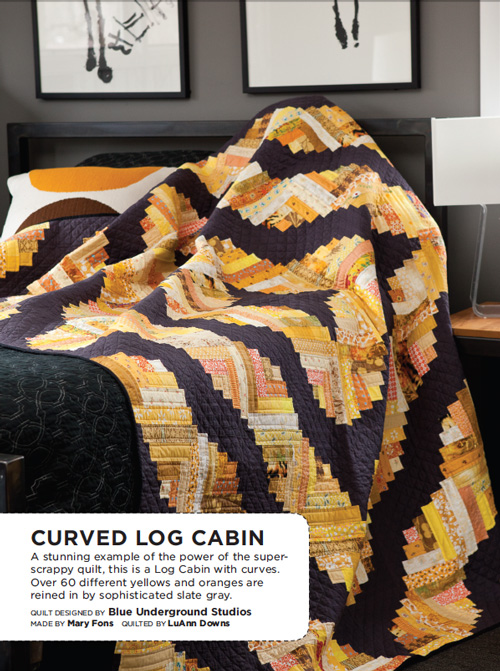 Curved Log Cabin Quilt Pattern Download Quilting Daily
