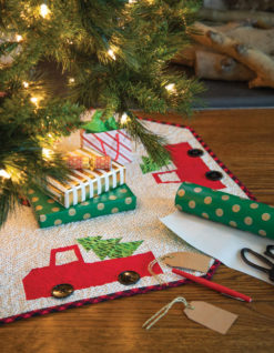 Little Red Truck Tree Skirt Pattern Download Quilting Daily