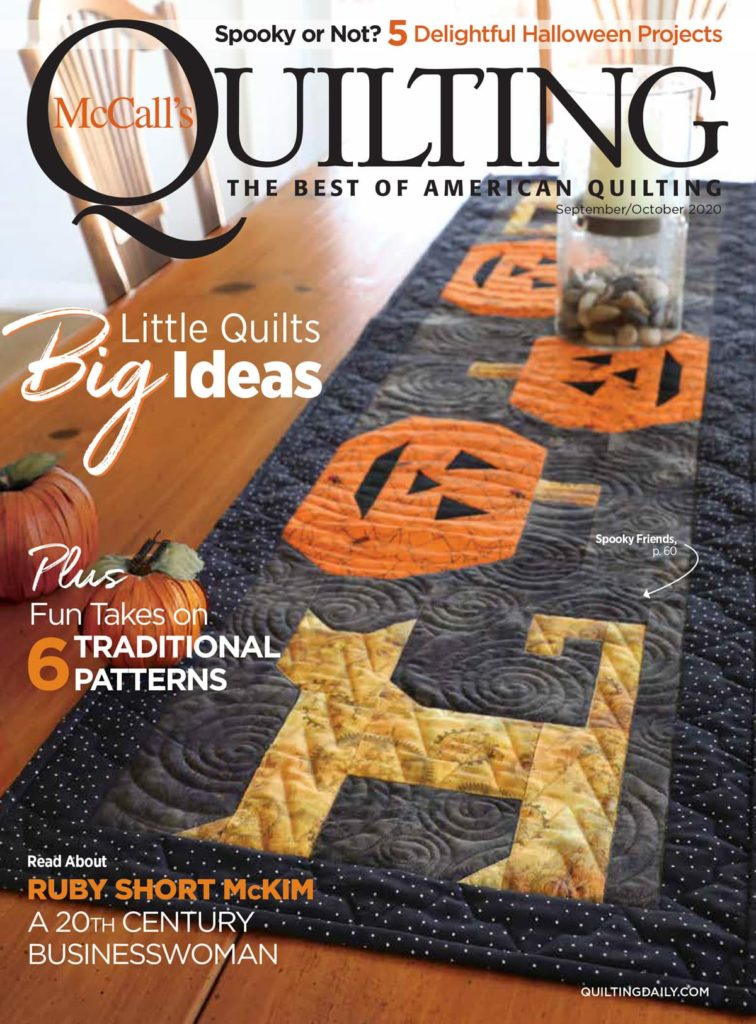 Mccall Patterns Halloween 2020 McCall's Quilting September/October 2020 Digital Edition