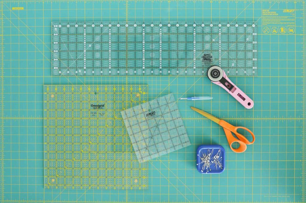 These are the basic and must-have tools for making a quilt.