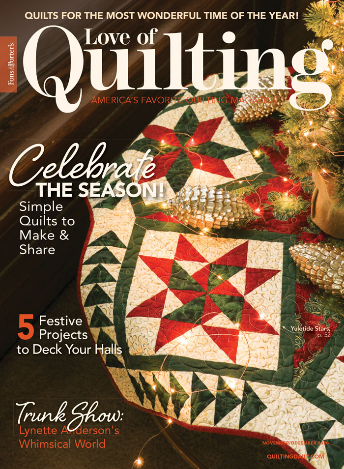 Love of Quilting November/December 2020 Cover