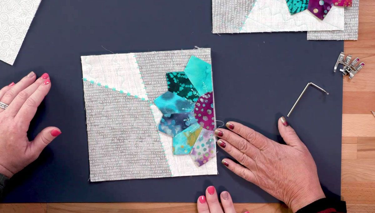 Single Quilt Block on a Background