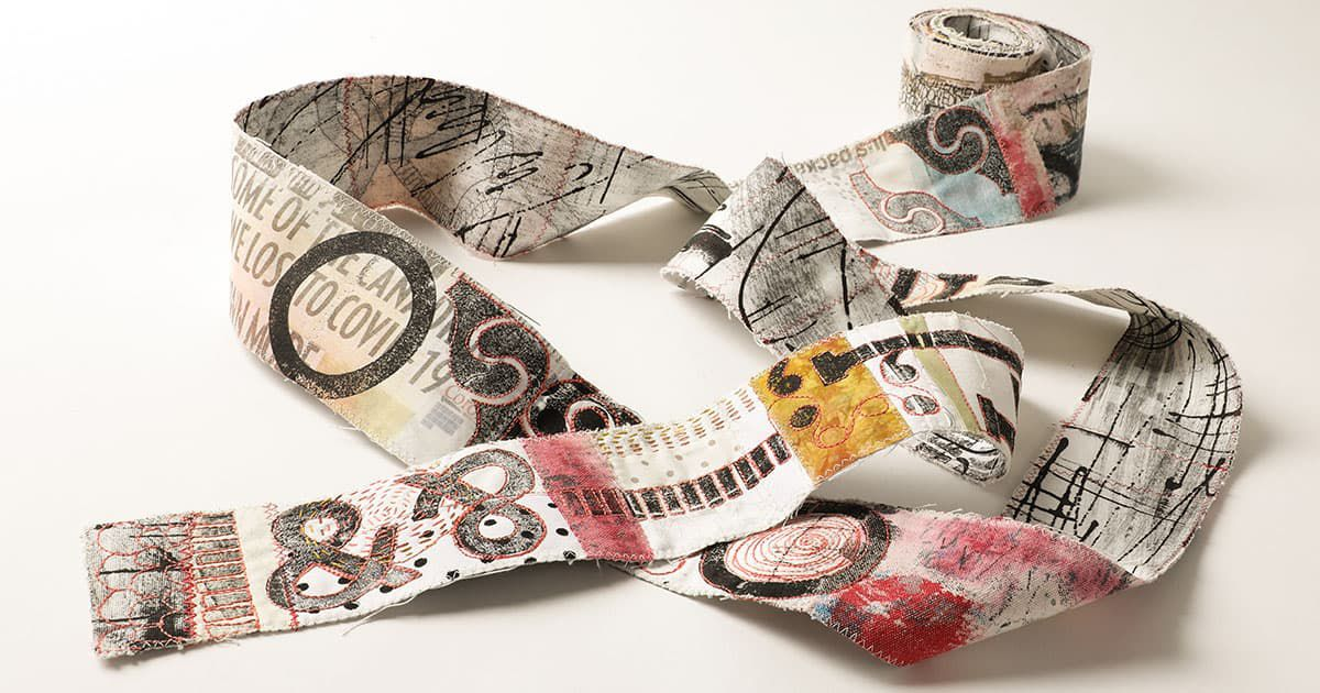 """""""The one that started it all"""" by Ana Buzzalino - a beautiful strip of fabric"""