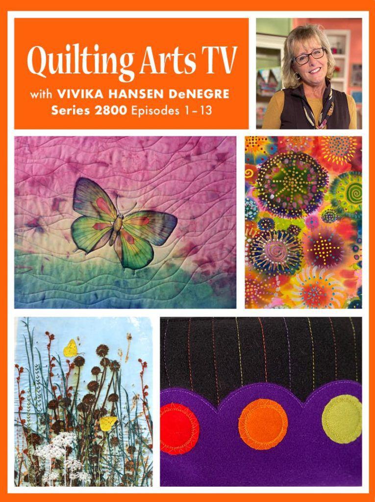QATV 2800 ebook cover featuring art work from the season and host, Vivika Hansen DeNegre