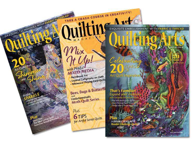Quilting Arts Magazine - array of 3 magazines